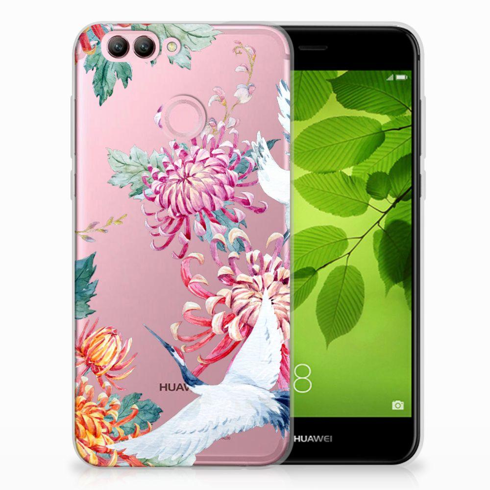 Huawei Nova 2 Uniek TPU Hoesje Bird Flowers