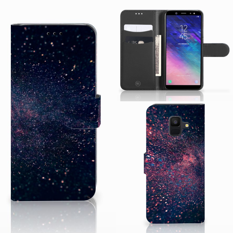 Samsung Galaxy A6 2018 Bookcase Stars