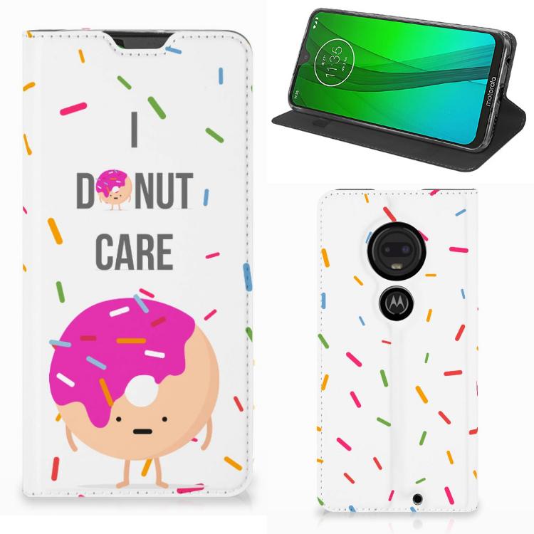 Motorola Moto G7 | G7 Plus Flip Style Cover Donut Roze