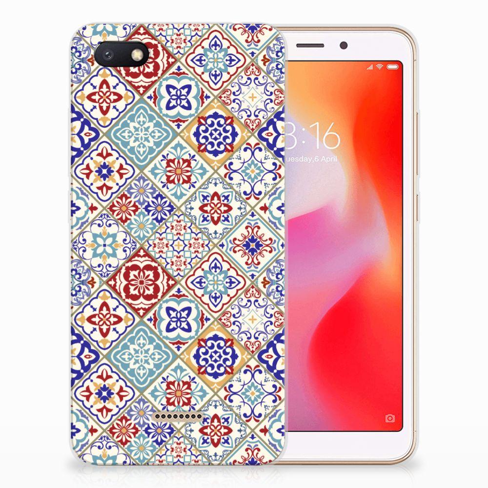 Xiaomi Redmi 6A TPU Siliconen Hoesje Tiles Color