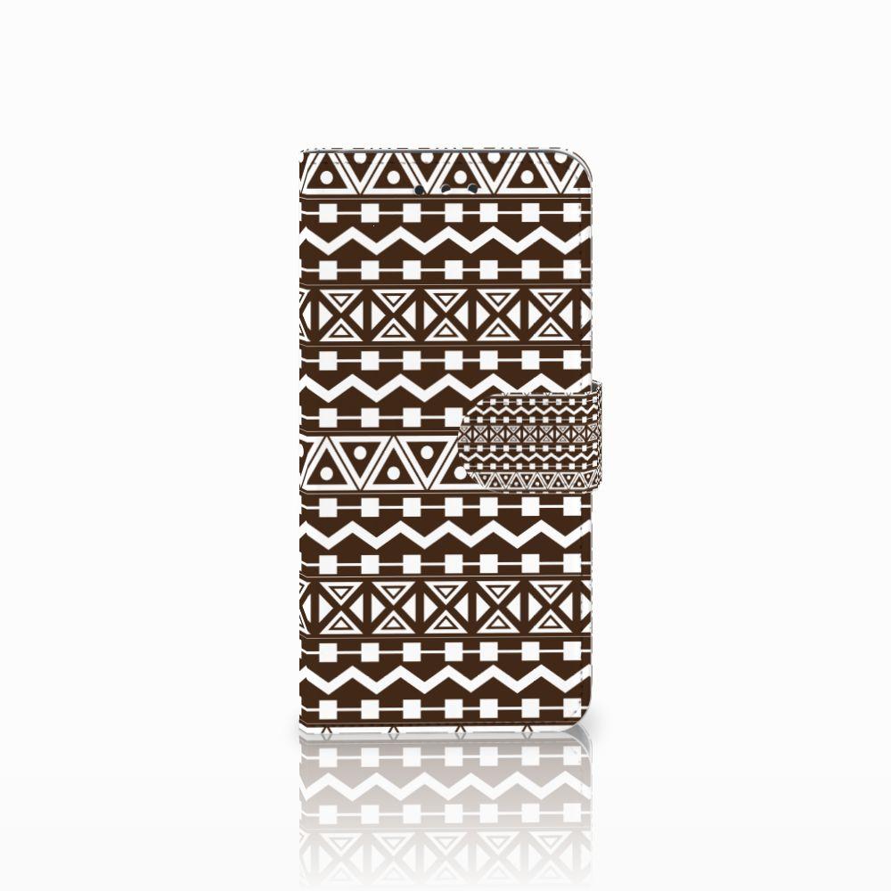 LG G7 Thinq Uniek Boekhoesje Aztec Brown