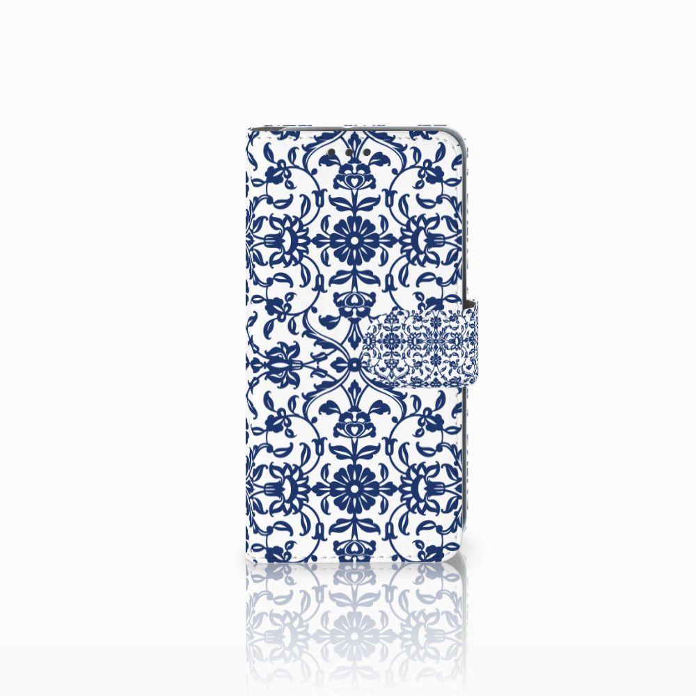 HTC U11 Life Uniek Boekhoesje Flower Blue
