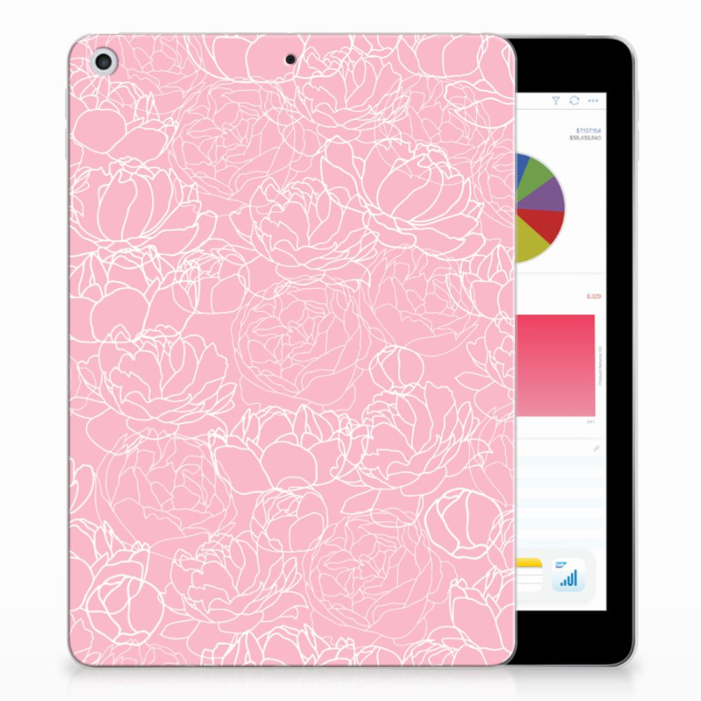 Apple iPad 9.7 2018 | 2017 TPU Case White Flowers