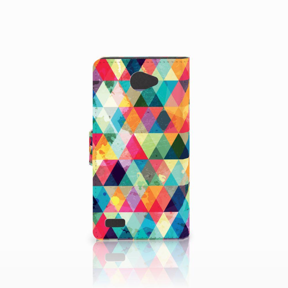 LG Bello 2 Telefoon Hoesje Geruit