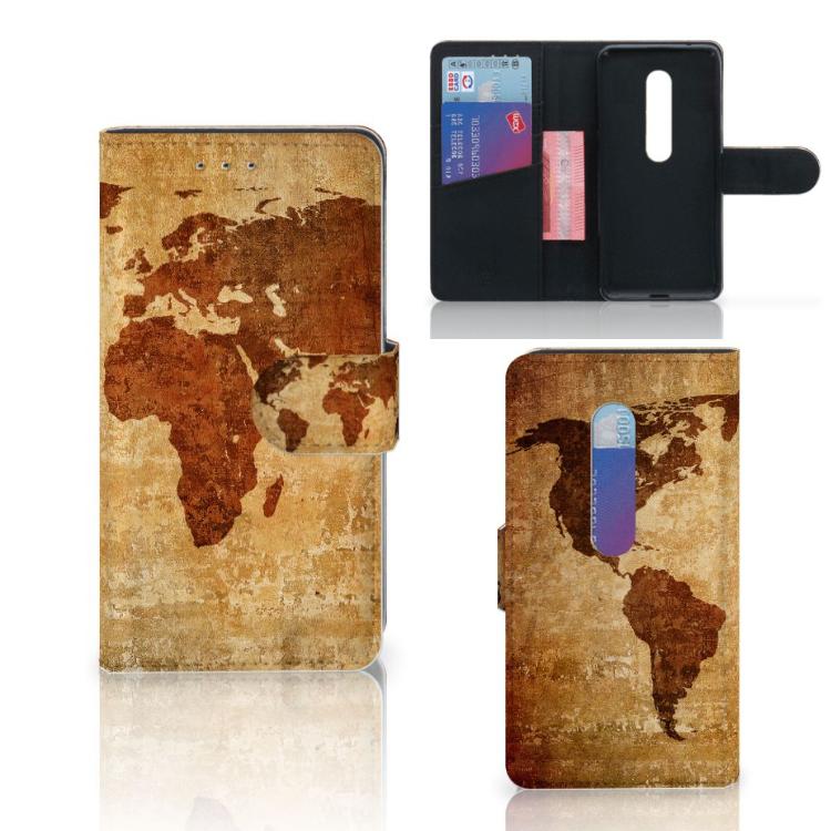 Motorola Moto G 3e Generatie Flip Cover Wereldkaart