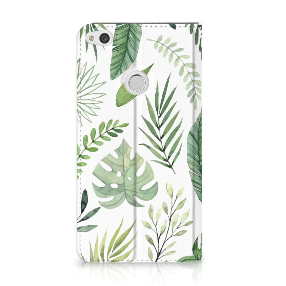 Huawei P8 Lite 2017 Uniek Standcase Hoesje Leaves