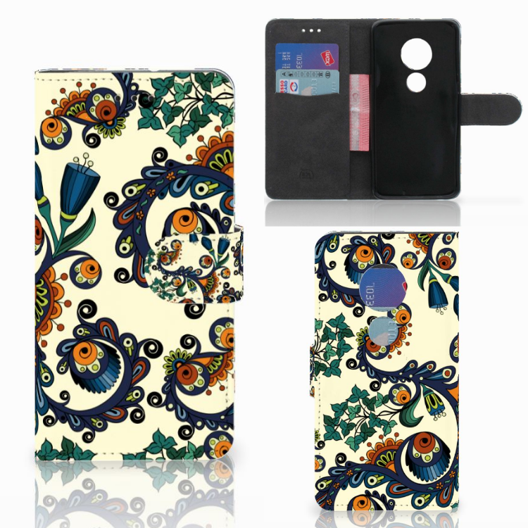 Wallet Case Motorola Moto G7 Play Barok Flower