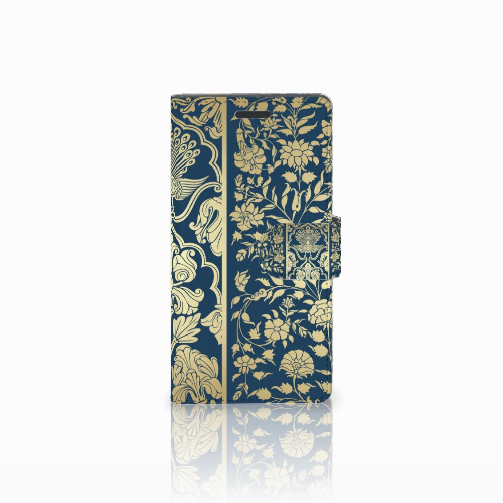 Nokia Lumia 830 Boekhoesje Golden Flowers
