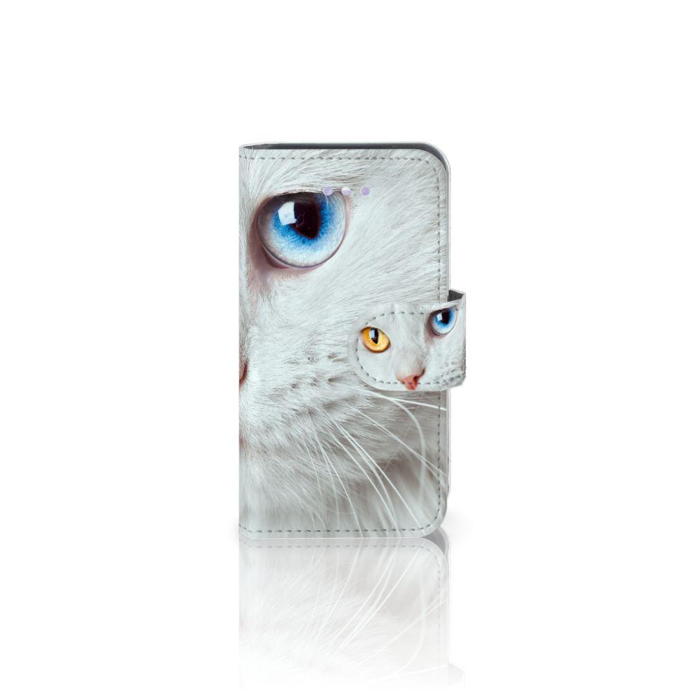 Apple iPhone 4 | 4S Uniek Boekhoesje Witte Kat