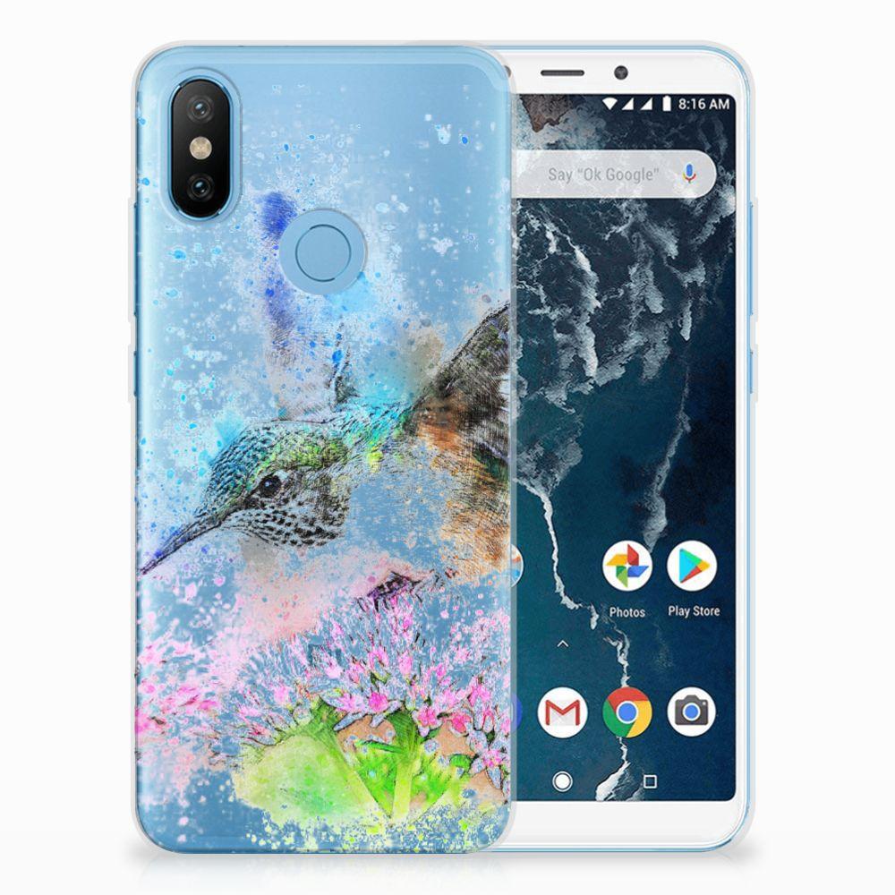 Xiaomi Mi A2 TPU Hoesje Design Vogel