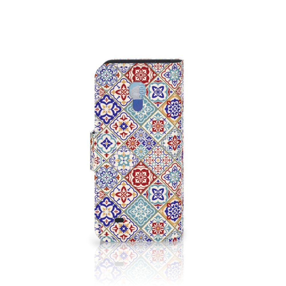 Samsung Galaxy S4 Mini i9190 Bookcase Tiles Color