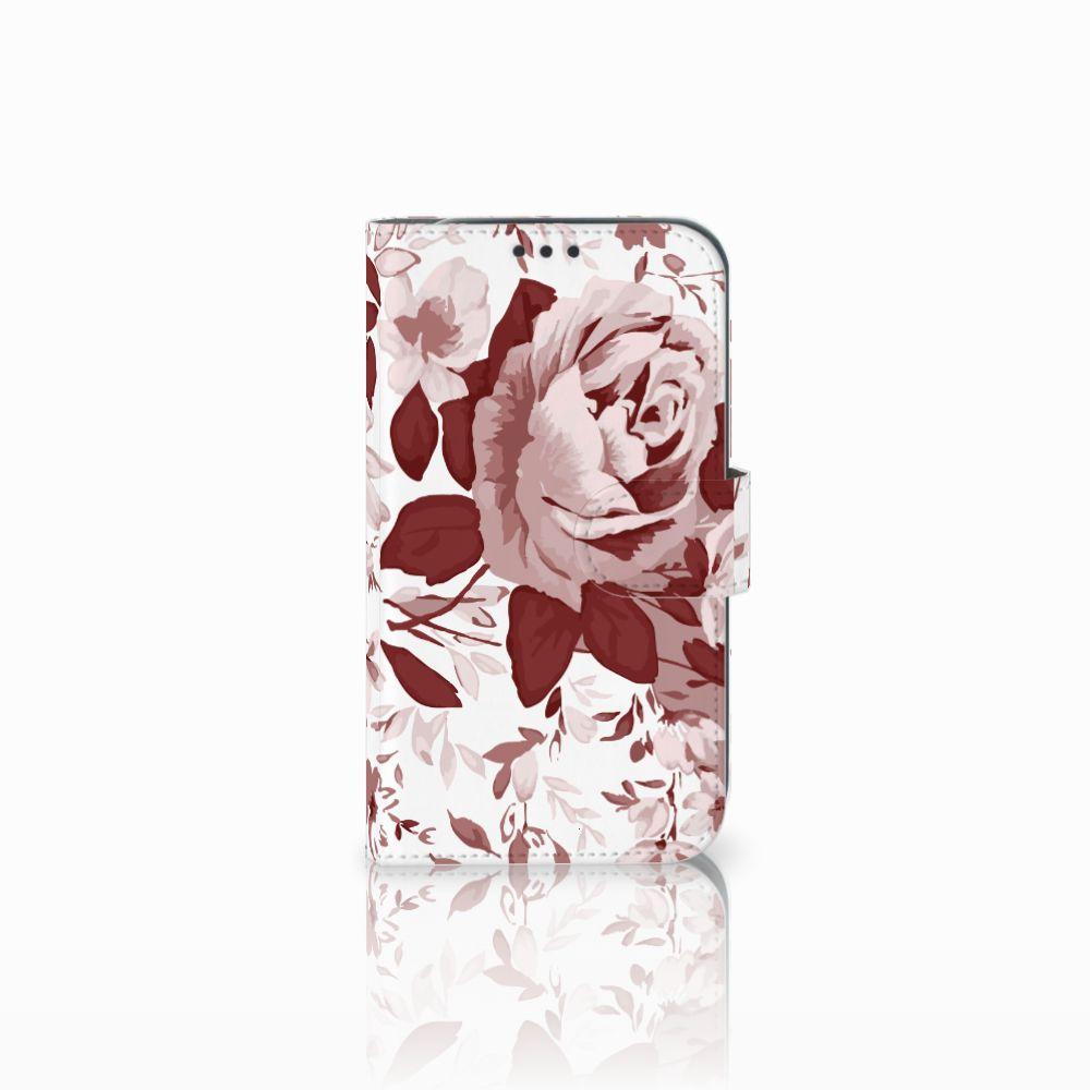 Samsung Galaxy Xcover 4 Uniek Boekhoesje Watercolor Flowers