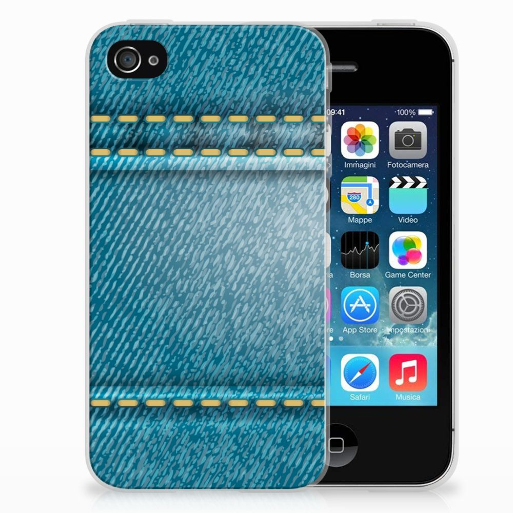 Apple iPhone 4   4s Silicone Back Cover Jeans