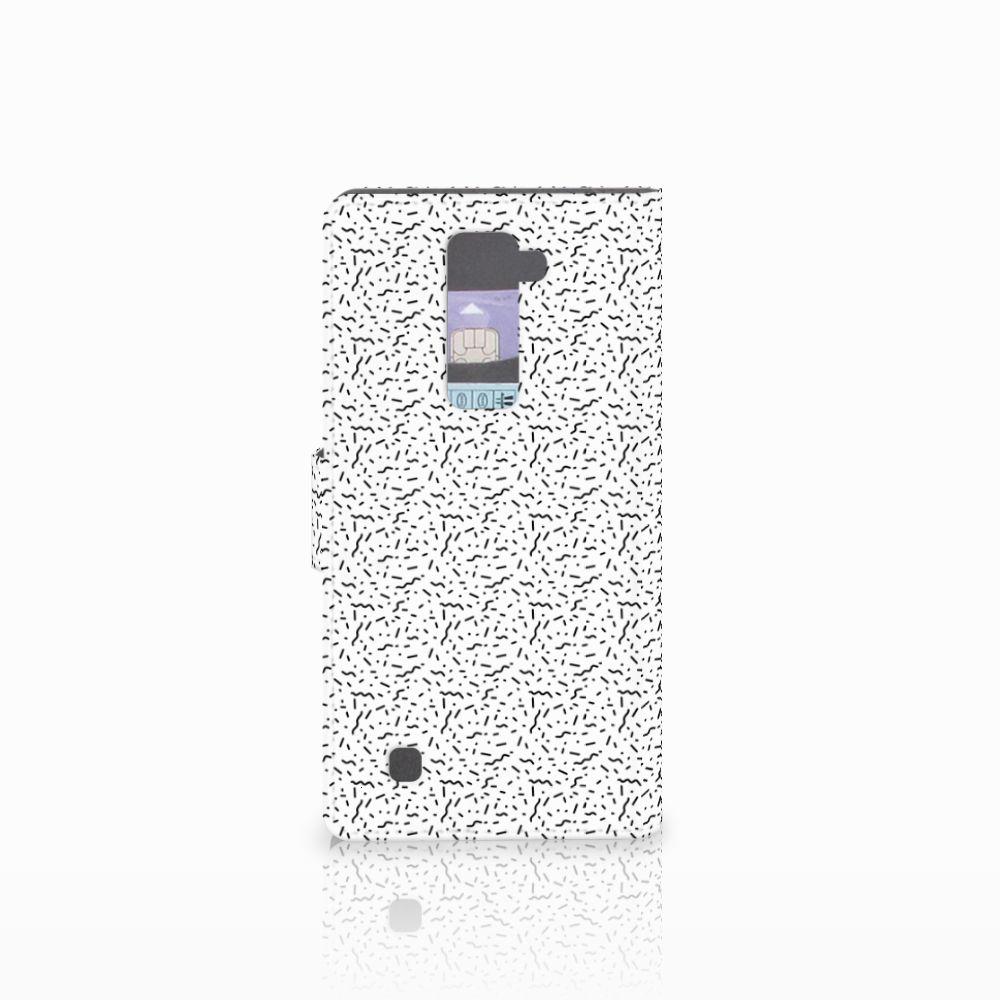 LG K10 2015 Telefoon Hoesje Stripes Dots