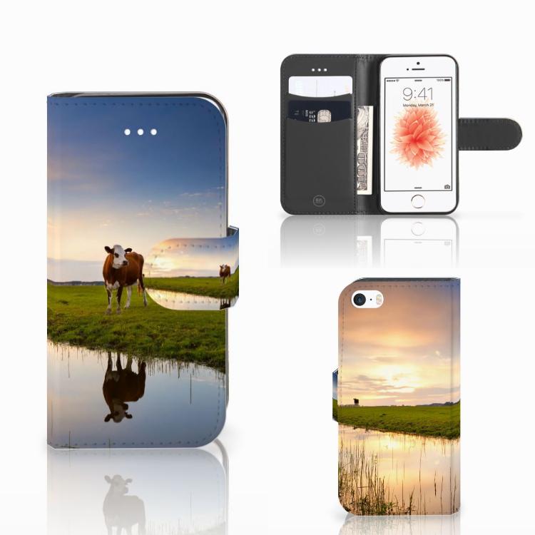 Apple iPhone 5 | 5s | SE Telefoonhoesje met Pasjes Koe