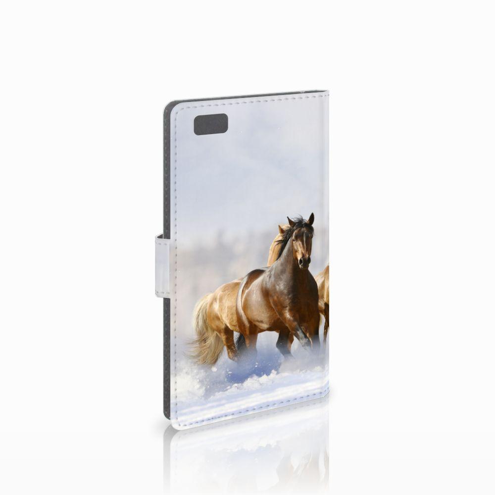 Huawei Ascend P8 Lite Uniek Boekhoesje Paarden