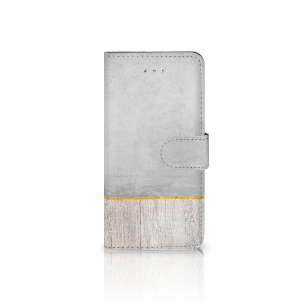 Honor 4A | Y6 Book Style Case Wood Concrete