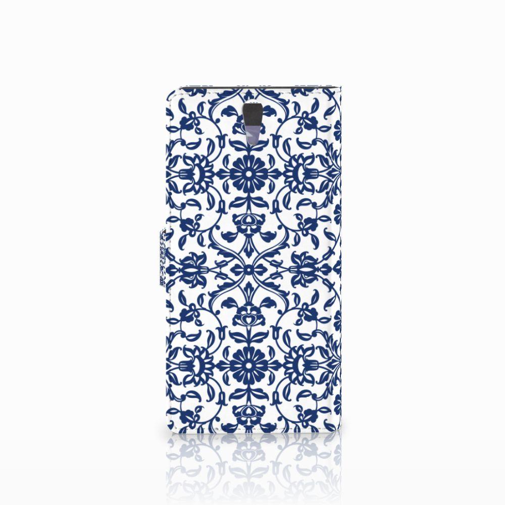 Sony Xperia C5 Ultra Hoesje Flower Blue