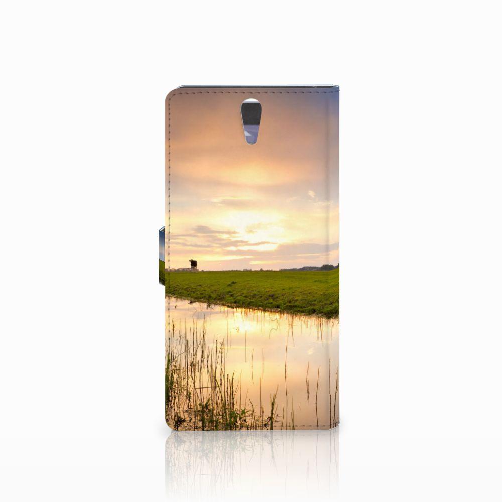 Sony Xperia C5 Ultra Telefoonhoesje met Pasjes Koe