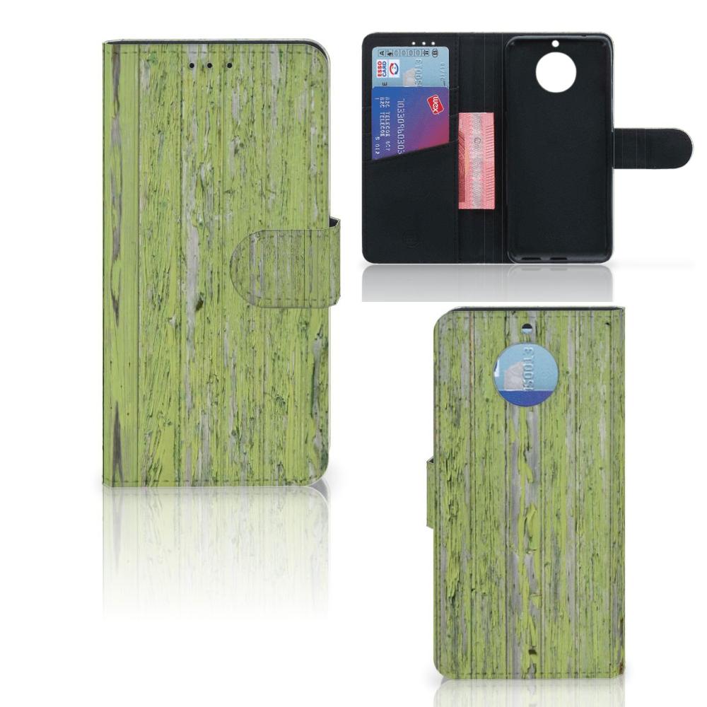 Moto G5S Boekhoesje Design Green Wood