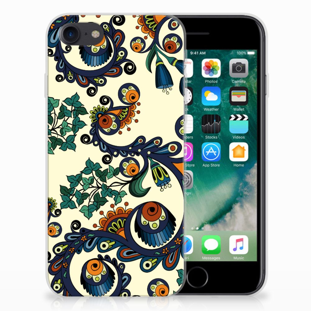 Siliconen Hoesje Apple iPhone 7 | 8 Barok Flower
