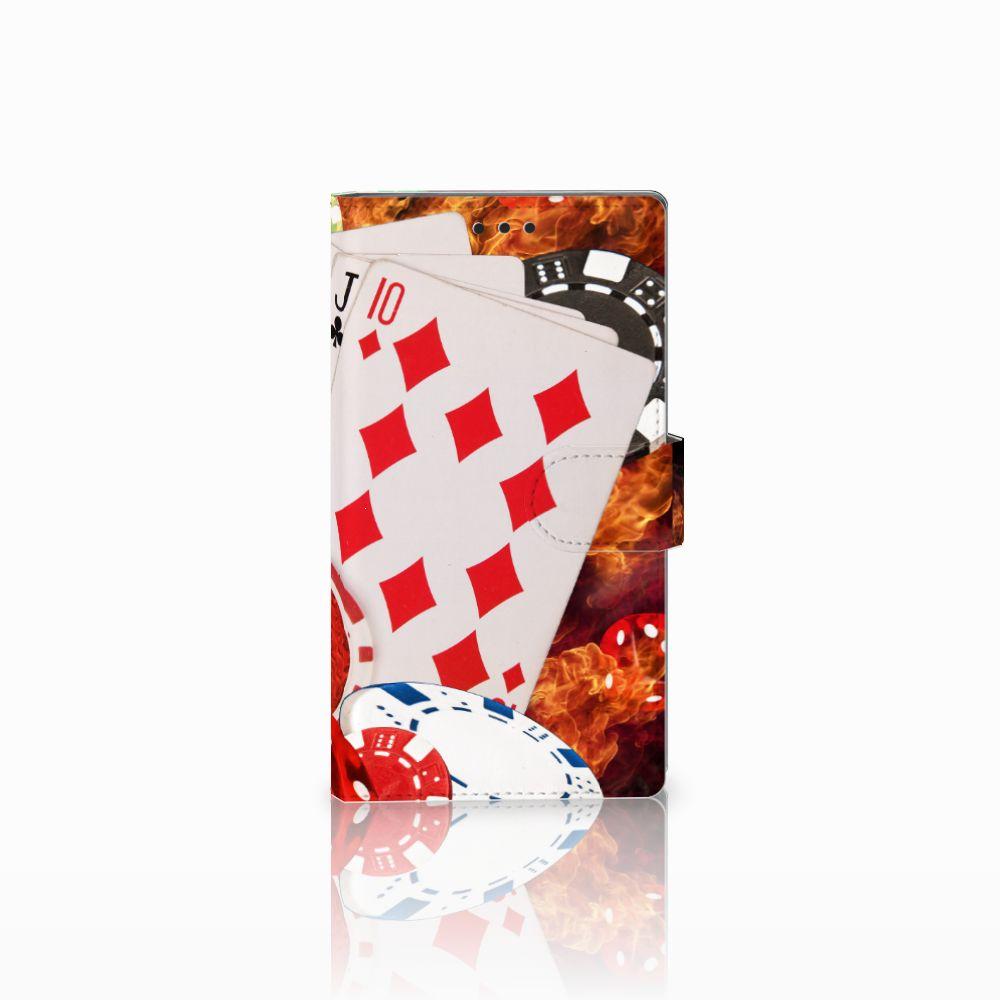 Sony Xperia L2 Uniek Boekhoesje Casino
