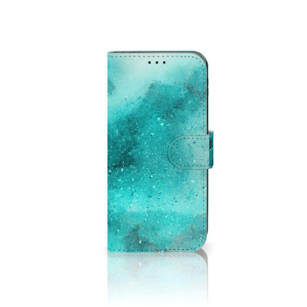 Samsung Galaxy J5 2017 Uniek Boekhoesje Painting Blue