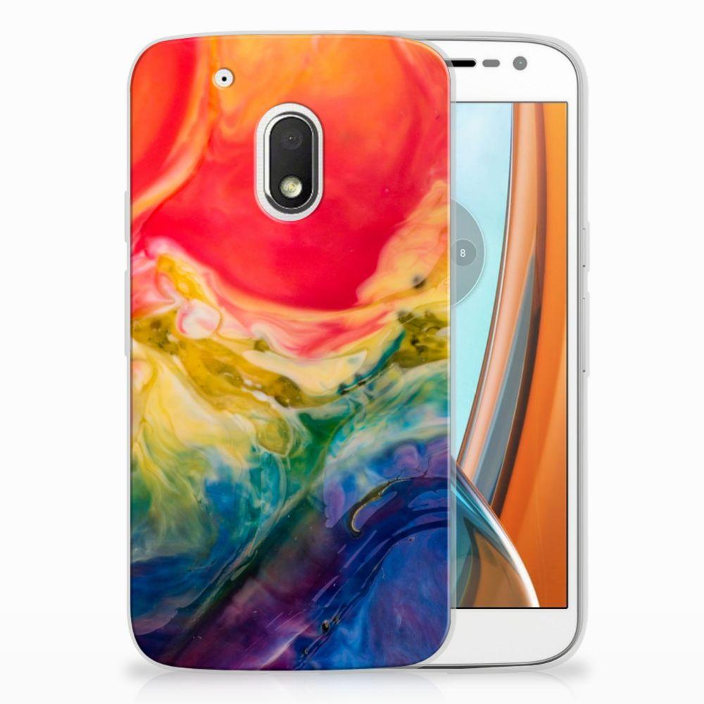 Motorola Moto G4 Play Uniek TPU Hoesje Watercolor Dark