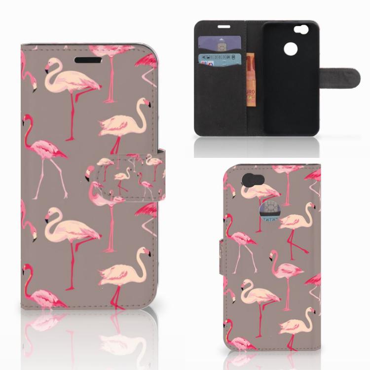 Huawei Nova Telefoonhoesje met Pasjes Flamingo