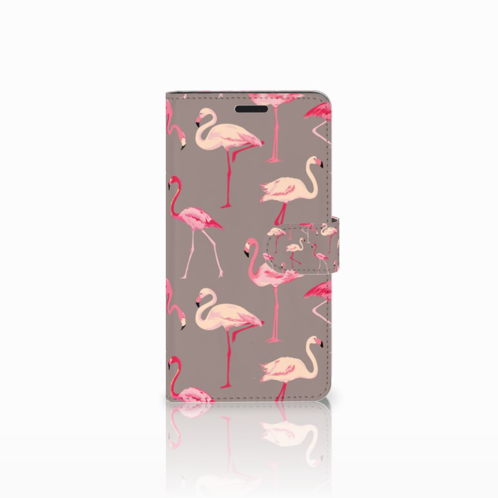 Sony Xperia T3 Uniek Boekhoesje Flamingo