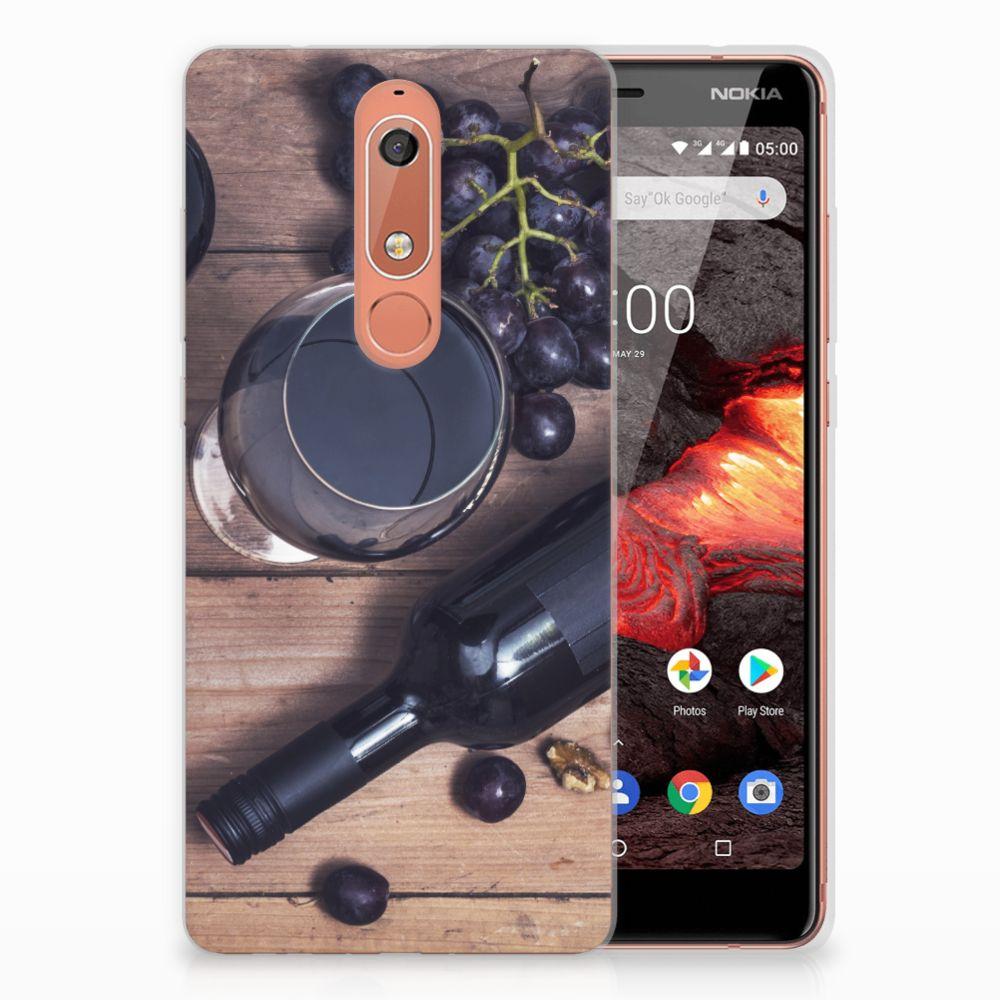 Nokia 5.1 (2018) Siliconen Case Wijn