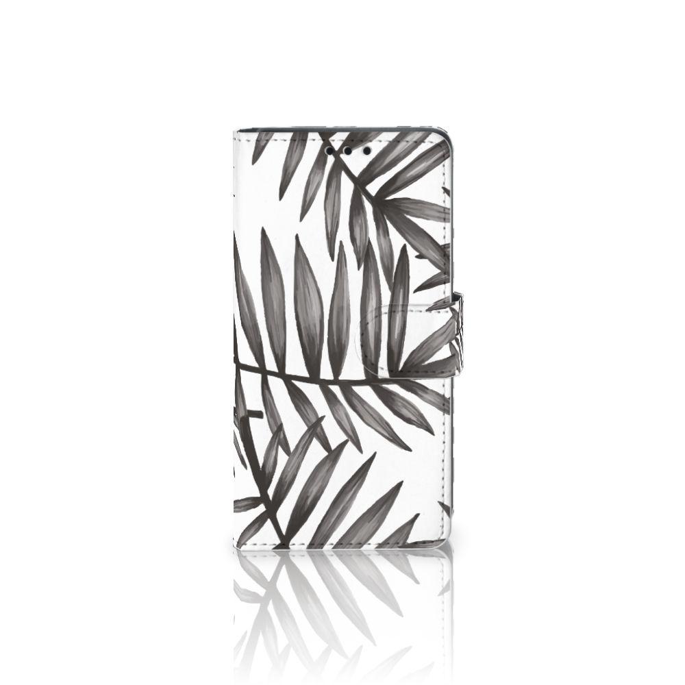Sony Xperia Z5 | Z5 Dual Uniek Boekhoesje Leaves Grey
