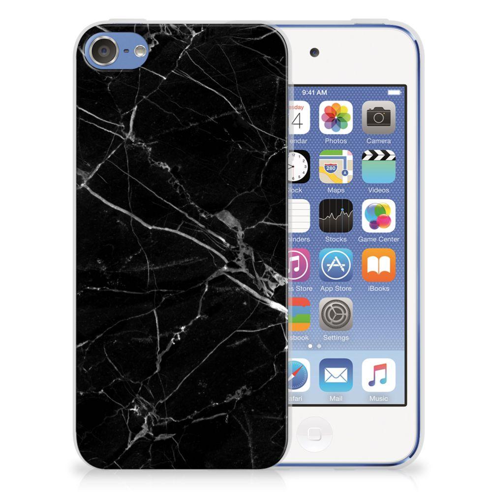 Apple iPod Touch 5 | 6 TPU Siliconen Hoesje Marmer Zwart