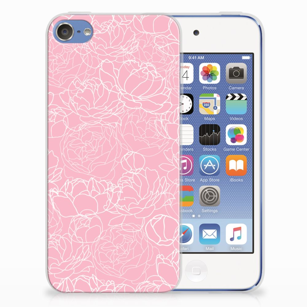 Apple iPod Touch 5 | 6 TPU Case White Flowers