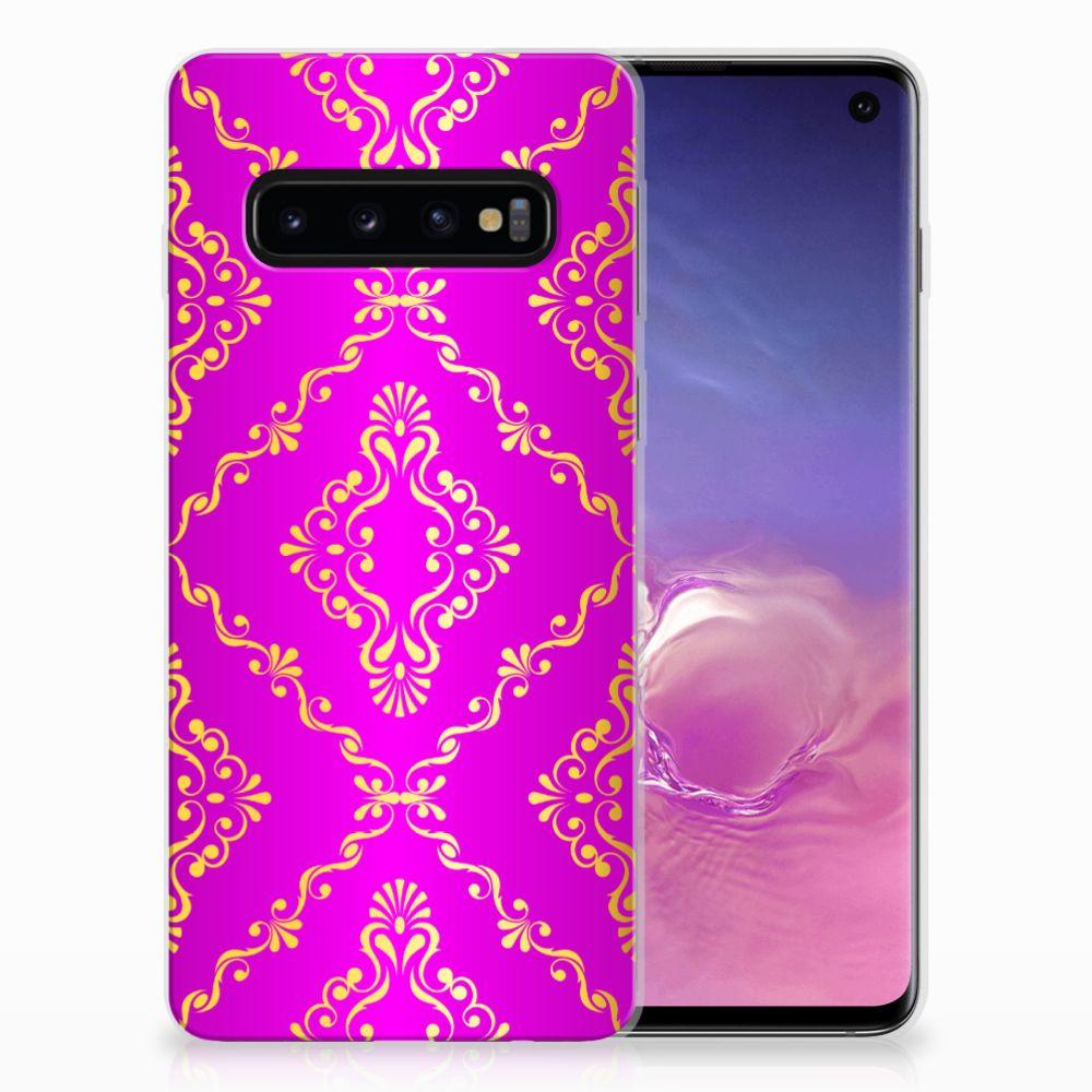 Siliconen Hoesje Samsung Galaxy S10 Barok Roze