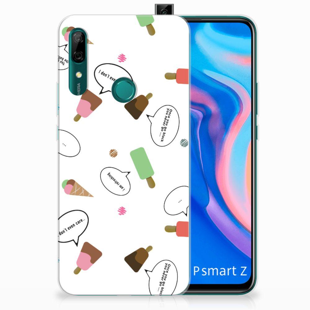 Huawei P Smart Z Siliconen Case IJsjes