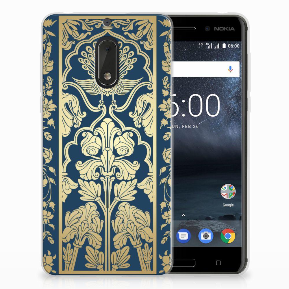 Nokia 6 TPU Hoesje Golden Flowers
