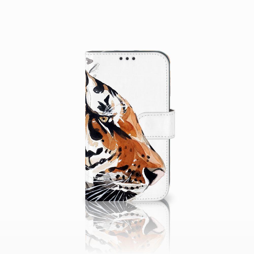 Samsung Galaxy Xcover 4 Uniek Boekhoesje Watercolor Tiger