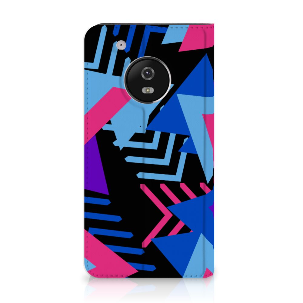 Motorola Moto G5 Plus Stand Case Funky Triangle