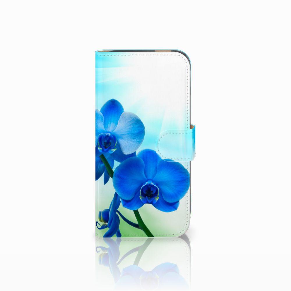HTC One M8 Boekhoesje Design Orchidee Blauw