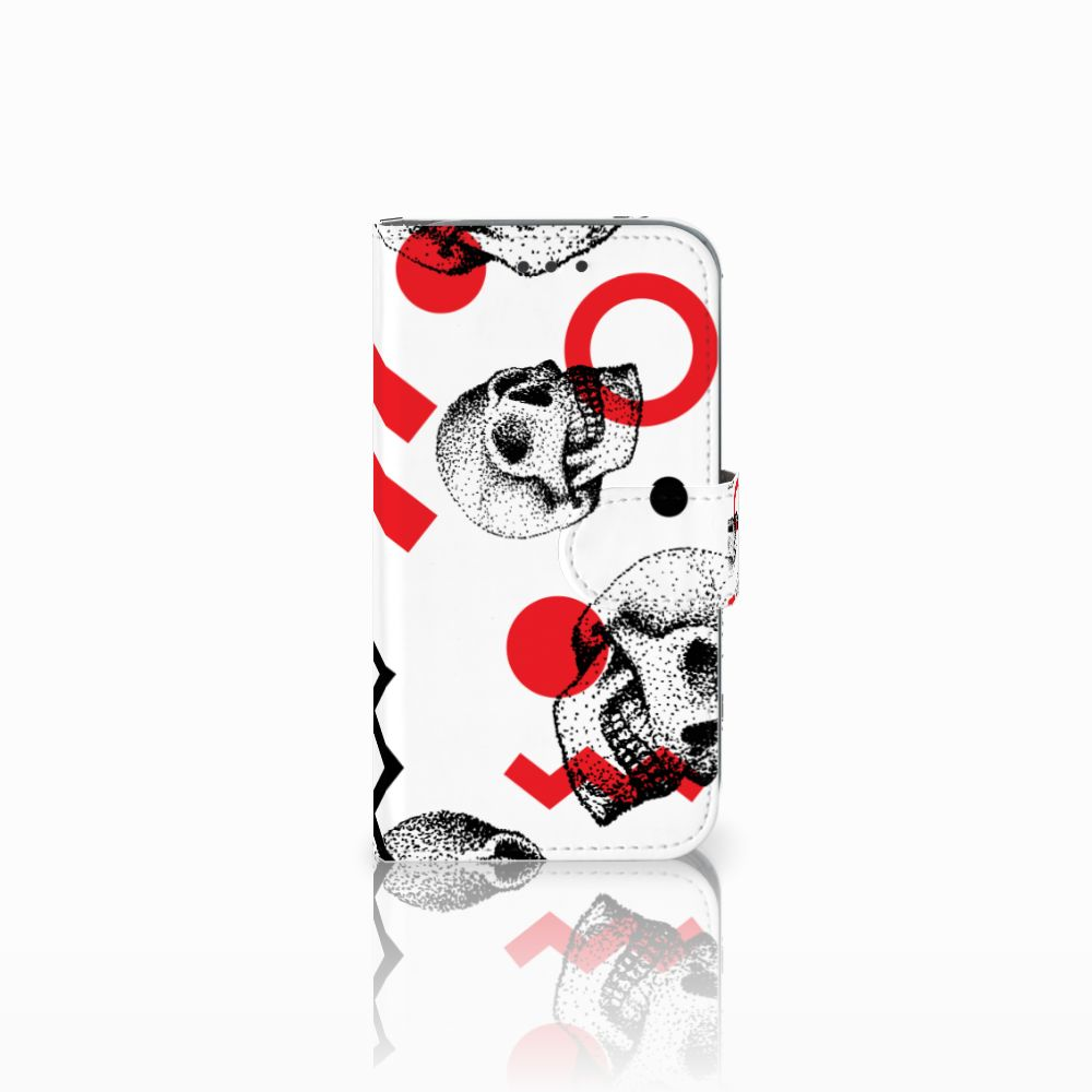 Telefoonhoesje met Naam Samsung Galaxy Core Prime Skull Red