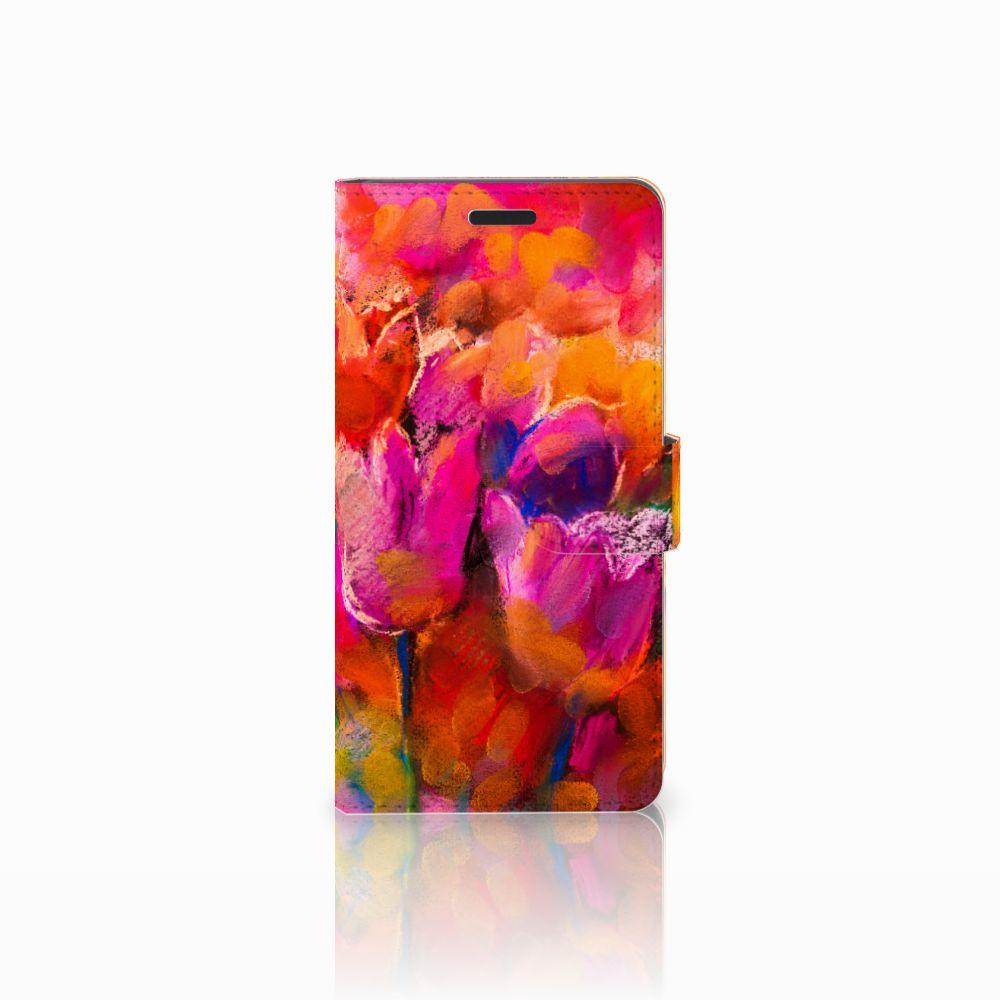 Samsung Galaxy A7 2015 Boekhoesje Design Tulips