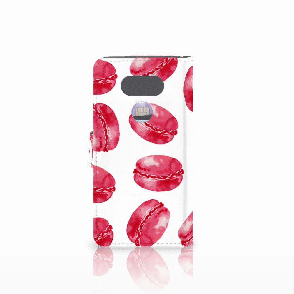 LG G5 Book Cover Pink Macarons