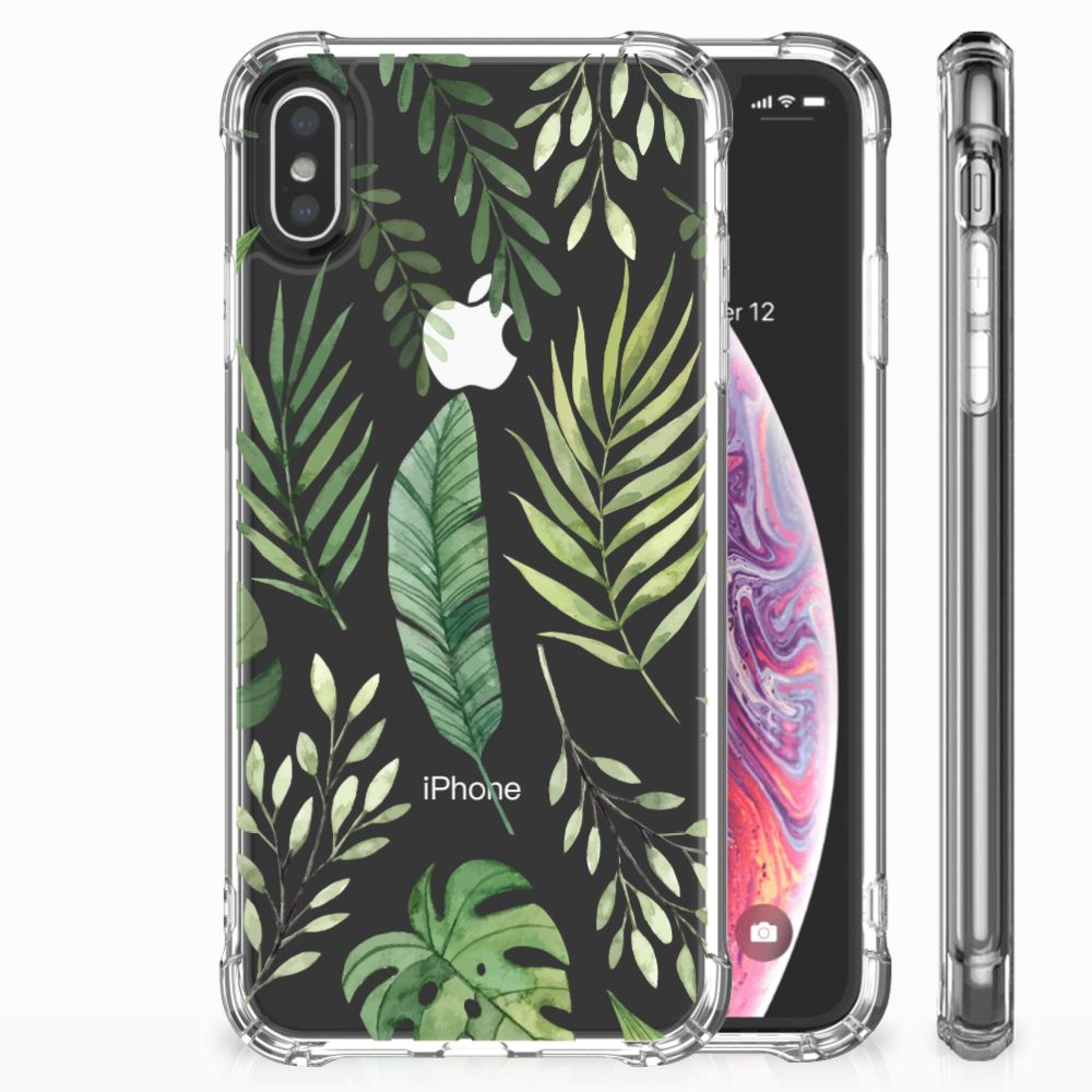Apple iPhone X | Xs Uniek TPU Hoesje Leaves