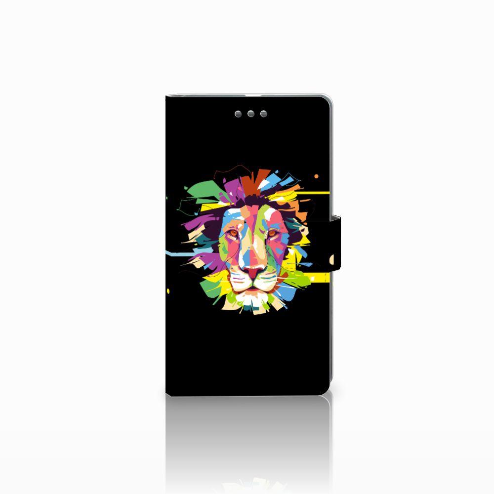 Microsoft Lumia 950 XL Uniek Boekhoesje Lion Color