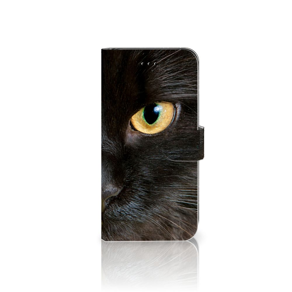 Apple iPhone 7 Plus | 8 Plus Uniek Boekhoesje Zwarte Kat