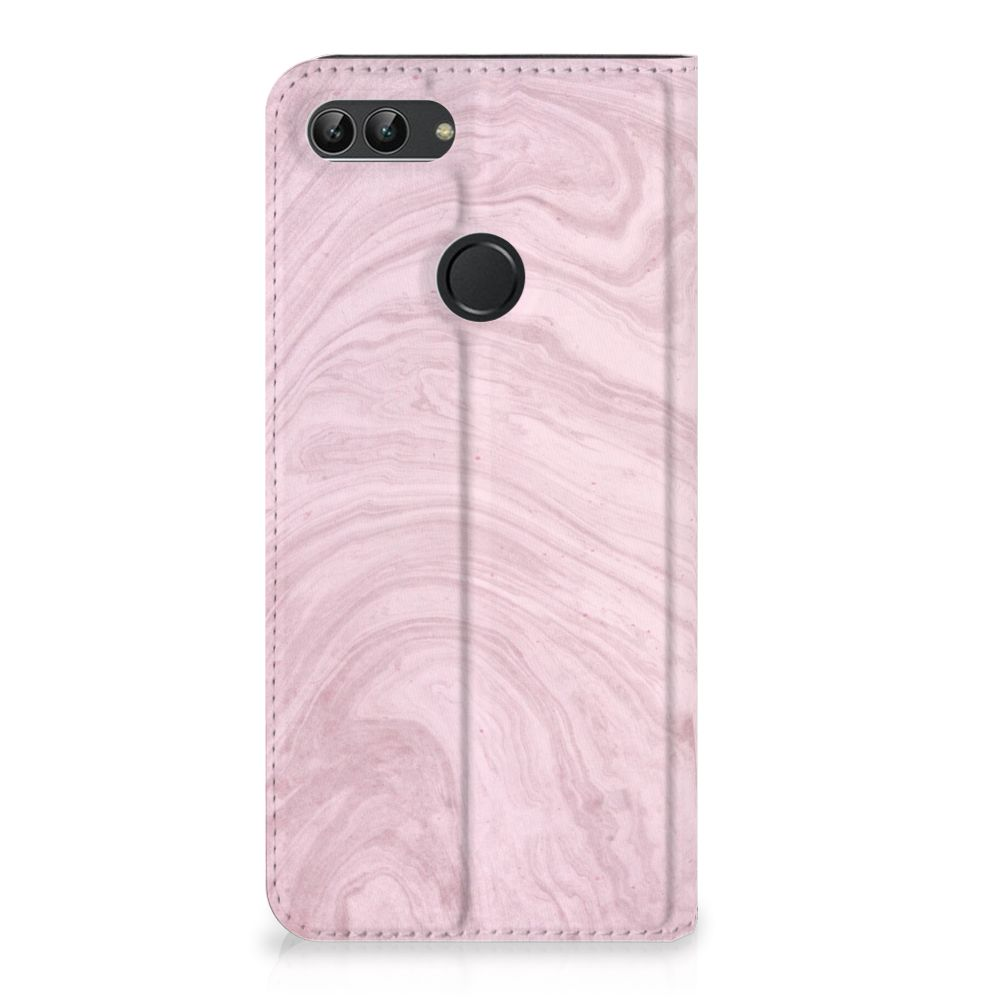 Huawei P Smart Standcase Hoesje Marble Pink