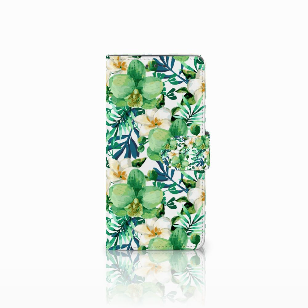 Motorola Moto X4 Uniek Boekhoesje Orchidee Groen