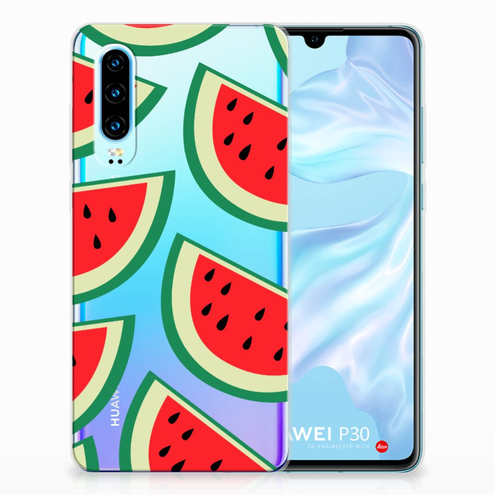 Huawei P30 Siliconen Case Watermelons