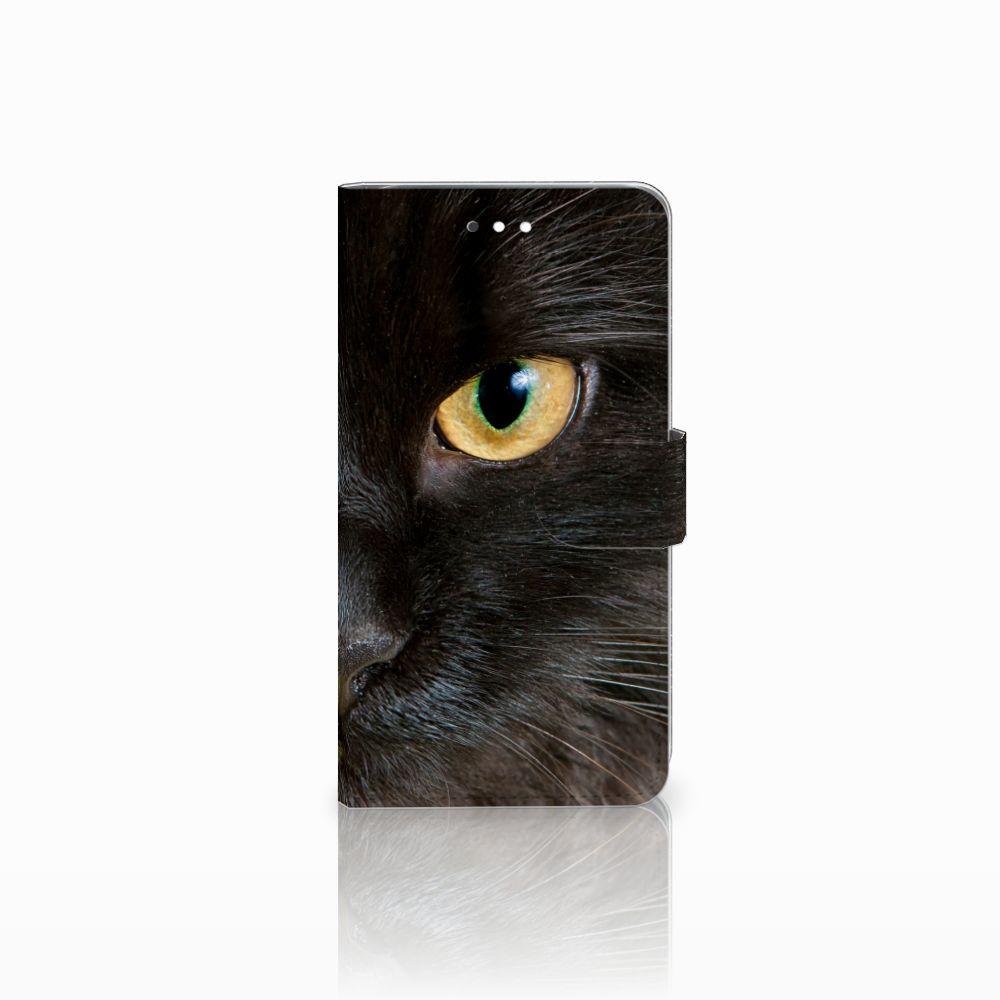 Huawei Ascend G7 Uniek Boekhoesje Zwarte Kat